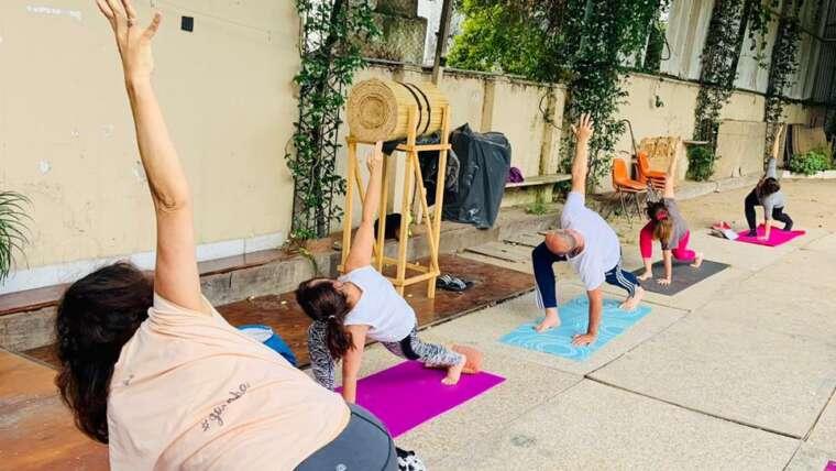 Volvimos a clases presenciales de Yoga